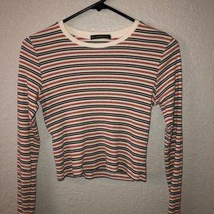 Brandy Melville long sleeve crop top. Never worn